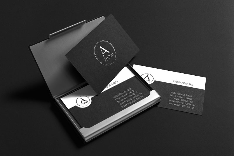 Avdou Collection Suites business cards