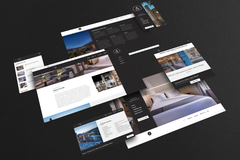 Avdou Collection Suites responsive website