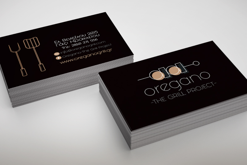 Oregano The Grill Project business cards